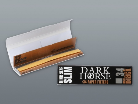 CIGARETTE PAPIER DARK HORSE KING SIZE SLIM BLACK + TIPS
